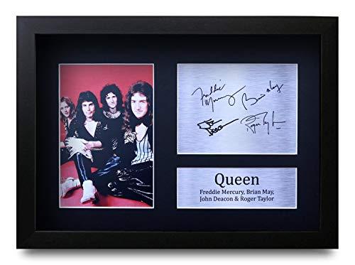 HWC Trading Queen A4 Gerahmte Signiert Gedruckt Autogramme Bild Druck-Fotoanzeige Geschenk Für Musik-Fans