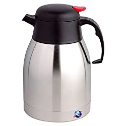 2L Stainless steel unbreakable vacuum coffee tea jug that is ideal for keeping drinks and soups warmer or cooler for longer It can be used for domestic or commercial use due to its compact style with large capacity stainless steel strong and thick li...