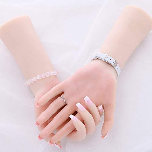 ZHONGJIUYUAN 1 par de maniquí de silicona suave Lifesize para mano femenina