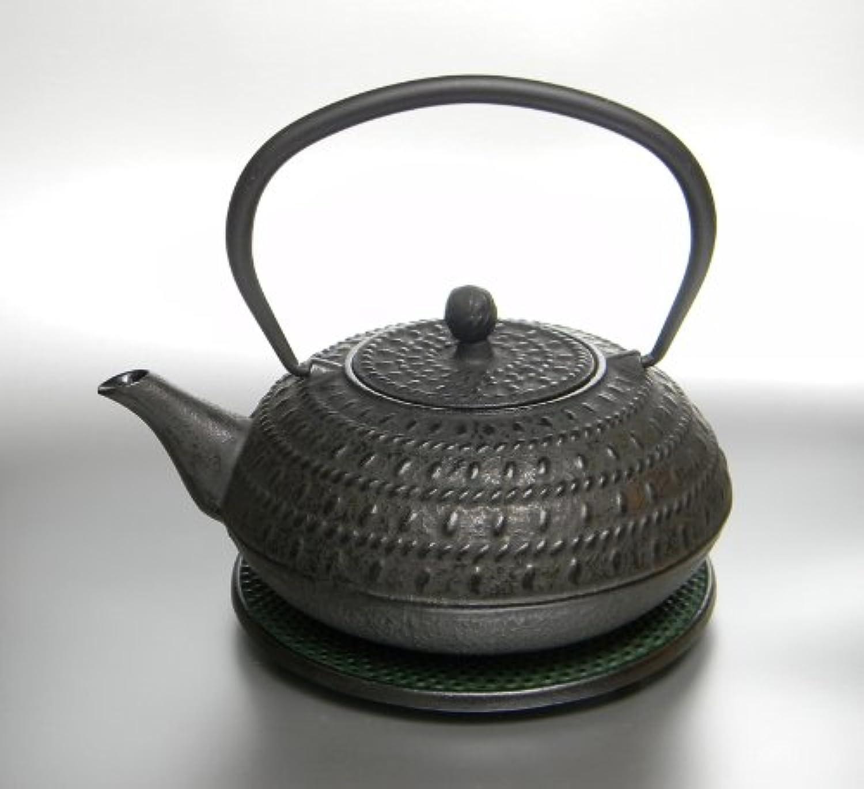 Gusseisen Teekanne (1,2 L) in schwarz mit Sieb und Untersatz (D06-044 1,2l) B007IGCRVY
