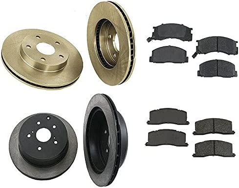 Compatible with Toyota Previa L4 2.4L Brake Rotor 67% OFF of fixed price Complete w Albuquerque Mall kit