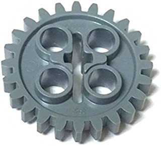 LEGOブロック・純正パーツ<テクニック・ギア>24歯(New Style with Single Axle Hole) (1個, Dark Bluish Gray) [並行輸入品]