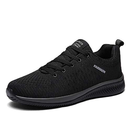 Mode Hommes Formateurs Léger Running Chaussures De Sport De Plein Air Chaussures De Marche - Noir - Noir , 42.5 EU