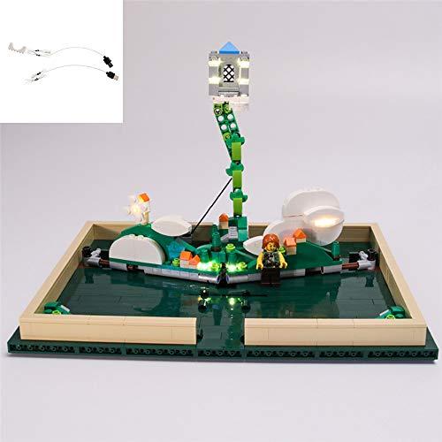 QJXF USB Light Set Compatible with Lego Ideas Pop Up Book 21315, LED Light Kit for (Pop Up Book) Building Blocks Model (Not Included Model)