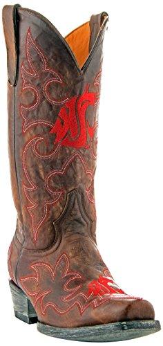 Gameday Boots NCAA Herren Washington, State Cougars, Herren, WST-M063, Messing, 9.5 D (M) US