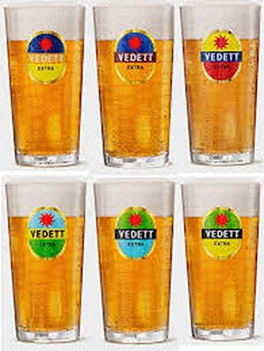 Vedett Lots de 6 Verres à biéres 50 cl