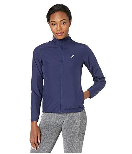 ASICS Damen-Jacke, silberfarben, Damen, Jacke, Silver Run Jacket, peacoat, Small