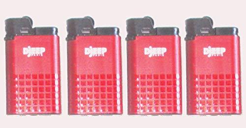 Djeep Feuerzeug Luxury Serie 4Stück rot