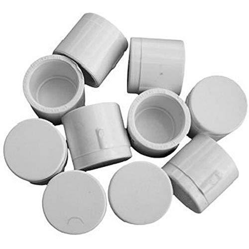 Genova Products 30155CP 1/2-Inch PVC Pipe Cap, Slip - 10 Pack