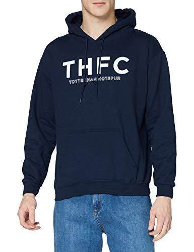 Tottenham Hotspur Over The Head Hooded Top T-Shirt - Navy, Small