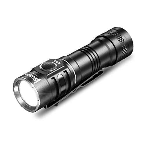 WUBEN LED Flashlight 900 Lumen, 6 Modes, USB Rechargeable 14500 Battery Included, IP68 Water Resistant Handheld Light Everyday Day Carry