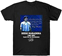 T-Shirts - RIP Diego Maradona T Shirt Cherish The Memory of Genius Maradona Soccer Legend Tops Casual Cotton Men Women Tee...