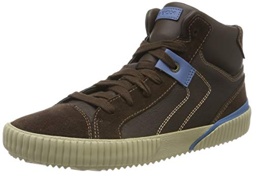 Geox Jungen J Alonisso Boy D Hohe Sneaker, Braun (Brown/Avio C6402), 29 EU