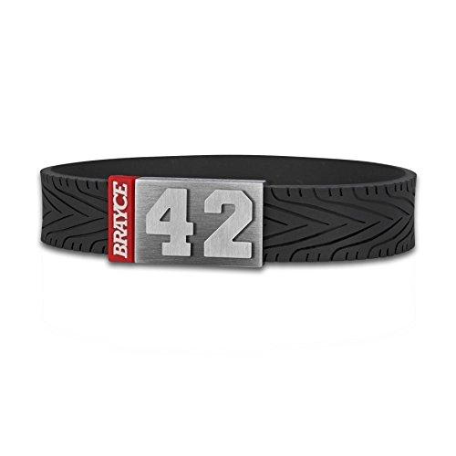 BRAYCE® Bracelet des pneumatiques avec Votre numéro 00-99 I Indestructible comme Un Pneu pour Voiture