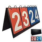 TheStriven Sport Anzeigetafel Spielstand Zähler 4-Stellige Sport Wettbewerbs Anzeigetafel Scorebord Sportx Anzeigetafel Tragbare Anzeigetafel für Sportwettkämpfe Tischtennis Basketball Badminton