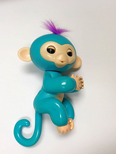 Finger Baby Monkey collect and have fun with them - Finger Interactive Electronic Pet Toy - Happy Monkey - (Turquoise)