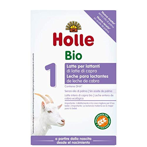 Holle Leche inicial orgánica 1 a base de leche de cabra, 4 unidades (4 x 400 g)