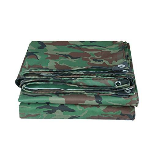 WZNING Camuflaje Verde/Heavy Duty Lona, Impermeable Camo Lona, Multi Purpose Lona Tapa Ojales, Bordes Reforzados, Durable, Resistente a los Rayos UV, for RV Camiones Remolques Y Durable y protecto