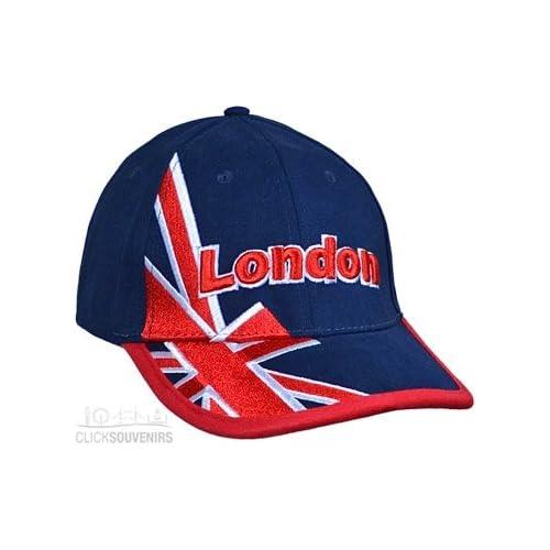 e8d8bb660 Baseball Cap - Raised Union Jack Embroidered Baseball Hat - Navy, London  Souvenir