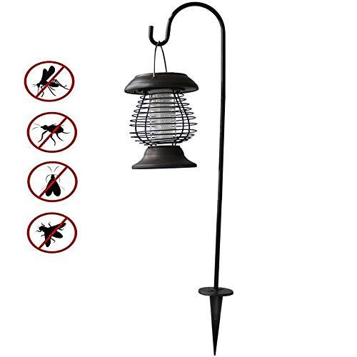 AZUOYI UV Lámpara Antimosquitos- Solar Antimosquitos para Exterior, Lámpara De Energía Solar contra Los Mosquitos, para Exterior Hogar Jardín Césped