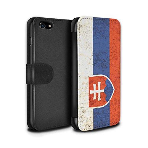 Telefoonhoesje Portemonnee voor Apple iPhone SE 2020 Vlaggen Slowakije/Slowaaks Ontwerp Flip Faux PU Lederen Cover Magnetische Sluiting Card Slots