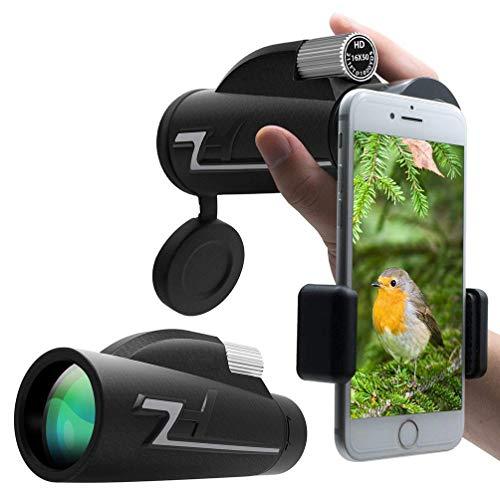 Télescope, Télescope De Poche 16X50 Plein Grossissement Optique Haut/Prisme Optique BAK4 pour Observer Les Oiseaux, Voyage, Concert, Sport, Plein Air