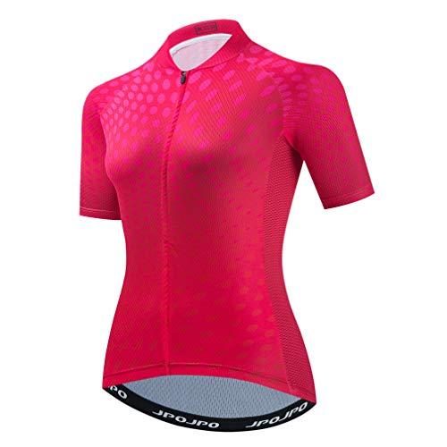 Maillot de ciclismo de manga corta transpirable para mujer bicicleta MTB ciclismo...