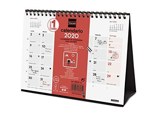 Finocam - Calendario de sobremesa 2020 Escribir español