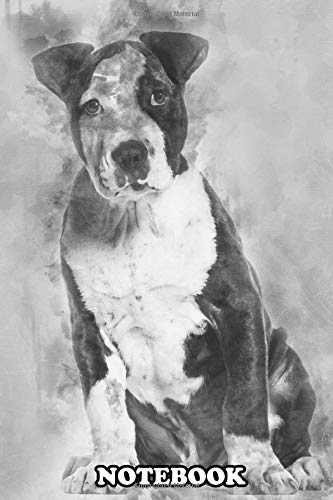 Notebook: American Staffordshire Terrier Puppy 3 Months Old Sitti , Journal for Writing, College Ruled Size 6' x 9', 110 Pages