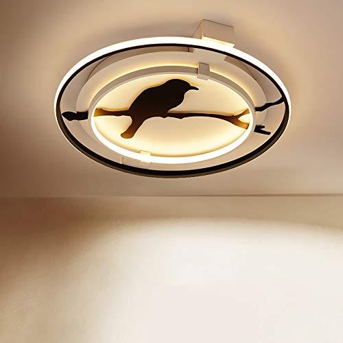Faus Koco Lámpara De La Lámpara De Acrílico Redonda Llevó La Lámpara del Techo Animal Nórdica Dormitorio Personalidad Creativa (Color : White, Size : D45cm)