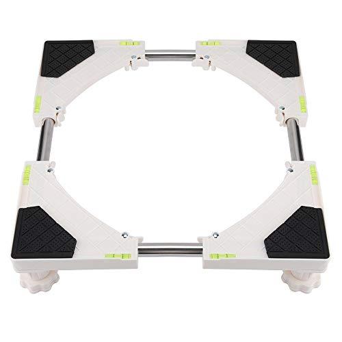 Base della Lavatrice Base Regolabile per lavatrice e asciugatrice Robusto 4 o 8 Piedi Ruote Telescopiche Base Mobile Regolabile Per Grandi Elettrodomestici Asciugatrice, Macchina e Frigorifero(4 Feet)