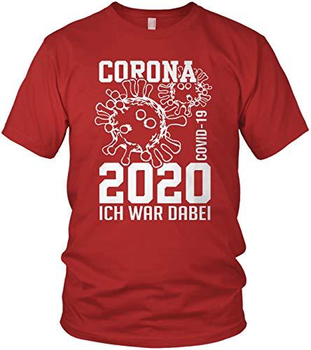 Il virus di Corona 2020 mi trovavo qui. COVID-19 - Maglietta da uomo Colore: rosso XXXXXL