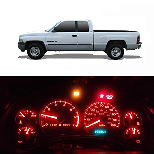WLJH Red Instrument Cluster Panel Gauge Dash Light Full Led Lights Kit with Socket for Dodge Ram 1500 2500 3500 1994-2001, Pack of 20