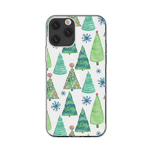 """iPhone 12 (6.1 inch) Case,Blingy's Winter Christmas Style Transparent Clear Soft TPU Protective Case Compatible for iPhone 12 6.1"""" 2020 Release (Christmas Trees)"""