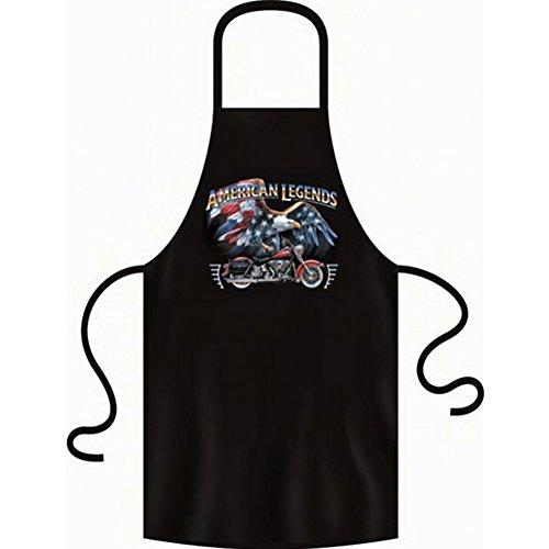 Schürze - Grillschürze - Kochschürze - American Legends Harley mit Adler - USA Motorrad Schürze mit Motiv als Geschenk für Biker mit Humor