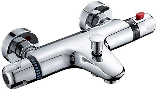 kisimixer Grifo para bañera con termostato (20 - 50 ℃), color cromado