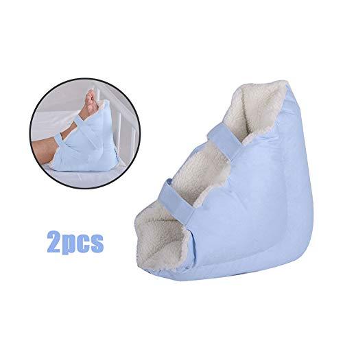 Patuco antiescaras, Almohada protectora azul para el tobillo, almohadilla para la úlcera del pie para aliviar el dolor de la presión,2pcs