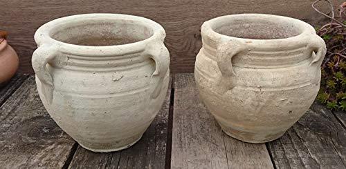 2 Stück Blumentopf echt Terrakotta 15 cm, Blumenkübel für Garten und Wohnung Terracotta kein Kunststoff, Blumen