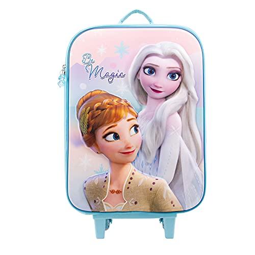 KARACTERMANIA Frozen 2 Magic-Maleta Trolley Soft 3D, Multicolor