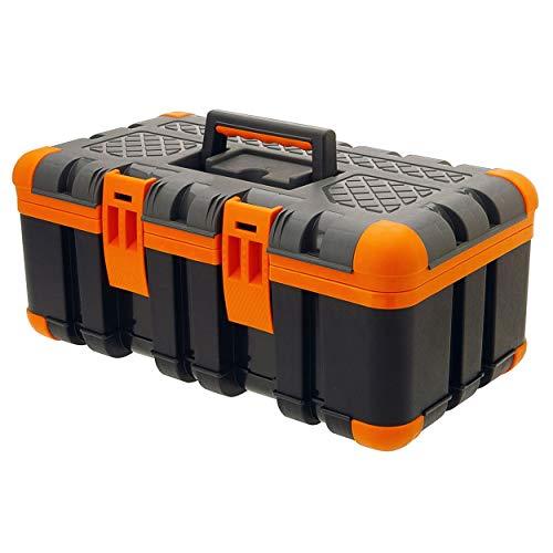 Oramics Werkzeugkoffer Werkzeugkiste – 50 x 30 x 24 cm – Werkzeugkasten mit Gummiecken für den perfekten Stand und Stoßfestigkeit – Kunststoffkoffer für Werkzeug – für Heim- und Handwerker