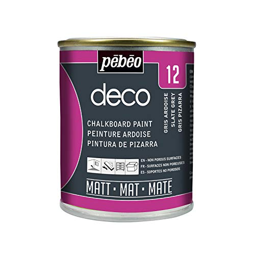 Pébéo – Deco Ardoise 250 ML Gris Ardoise – Peinture Pébéo Ardoise - Peinture Acrylique...