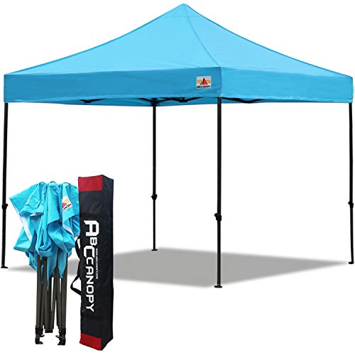 ABCCANOPY 3x3M Pop up Gazebo Fully Waterproof Commercial Instant Shelter with Wheeled Bag, Bonus 4 Weight Bags,4 Stakes&Ropes