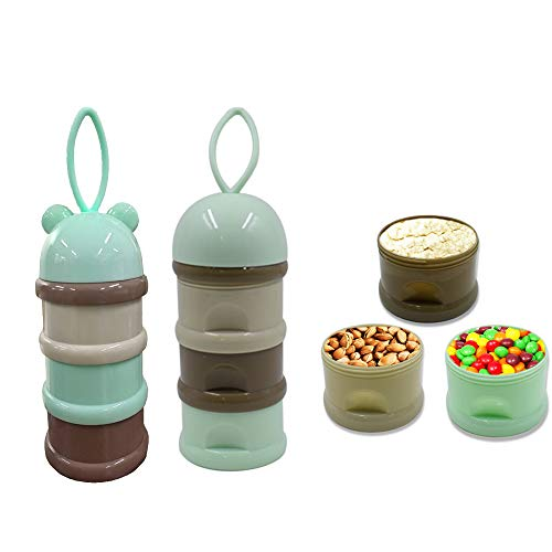 Lowest Prices! 3in1 Milk Powder Formula Dispenser Baby Feeding Travel Storage Container with Handle ...