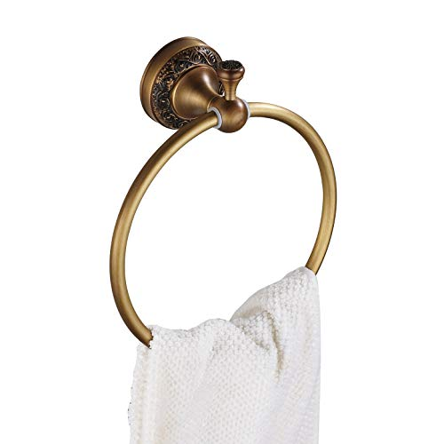 Antique Brass Bath Towel Ring