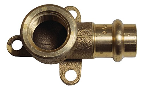 Cornat Press-Wandscheibe mit 1 Innengewinde und 1 Muffe, A 15 mm, B 1/2Zoll IG, 1 Stück, rotguss, T65721512B