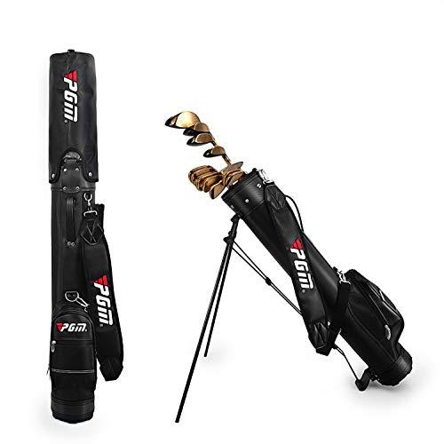 AKOZLIN ゴルフ セルフスタンド クラブケース キャリー クラブ ケース スタンド式クラブケース フード&大...