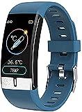 QHG Monitor de Salud Smart Watch Ejecutar Ruta Color Pantalla de Color Bluetooth Fitness Tracker Ejercicios de la presión Arterial Recording Reloj Deportivo (Color : Blue)