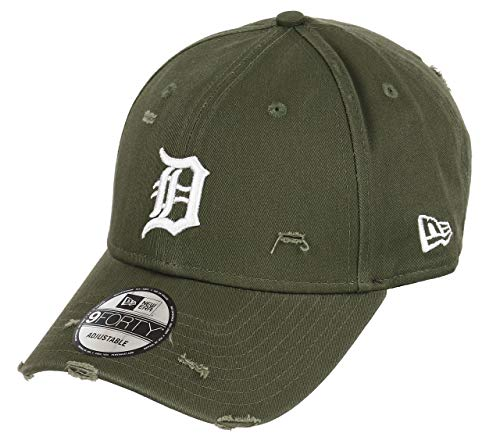 New Era Detroit Tigers 9forty Adjustable Cap Distressed Seasonal, Olive, One-size-fitts-all