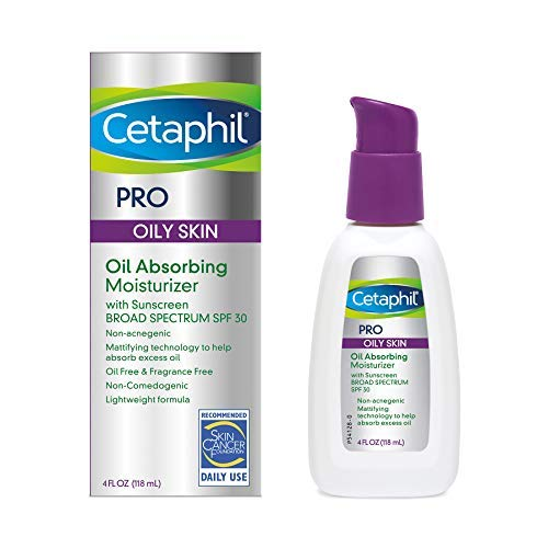 Cetaphil Dermacontrol Facial Moisturizer for Acne-Prone Skin with Suncreen SPF 30, 4 Fluid...