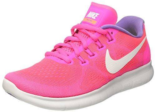 Nike Damen Free Run 2017 Laufschuhe, Pink (Racer Pink/off White/pink Blast/brt Mango/purple Earth), 37.5 EU